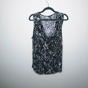 Daisy Fuentes Sleeveless Plus Size 2X Black Print